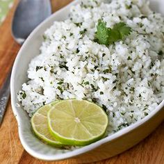 Cilantro-Lime Rice. Perfect alongside any Mexican dish!