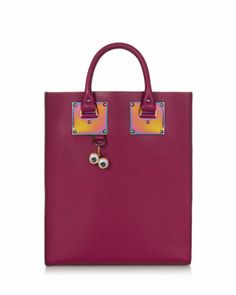 Mini Leather Tote Bag, Raspberry, Where would you tote this? http://keep.com/mini-leather-tote-bag-raspberry-by-bnethercutt0114/k/2KP-TjgBMt/