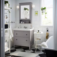 "10.7k Likes, 88 Comments - IKEA USA (@ikeausa) on Instagram: ""A traditional approach to an organized #bathroom - that's the #IKEA HEMNES bathroom series! Link in…"""