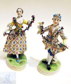 Antique German Dresden porcelain cup : Lot 9