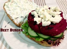 Beet Burgers, Sweetphi recipe