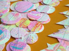 Marbling fun with Lorelai  Shop now  Paper decorations by Paper Street Dolls