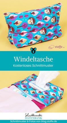 Windeltasche mit Loch für Feuchttücher nähen gratis Schnittmuster kostenlos Anleitung Idee Nähidee Geschenk Geschenkidee Freebie Freebook Mama Baby, Diy Kitchen, Love Knitting, Baba, Facial Tissue, Mini Me, Log Cabins, Recycling, Budget
