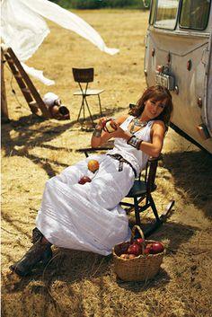 burda style, Schnittmuster - Blitzschnell genäht ist der vermaßte lange Hippie-Rock