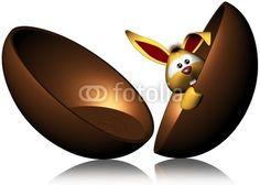 Chocolate Egg and Funny Rabbit © bluedarkat