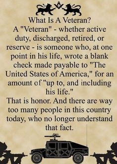 to all veterans - thank you.