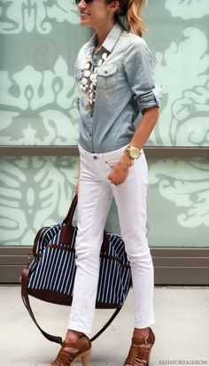 Style Guide: How to wear white jeans this summer?