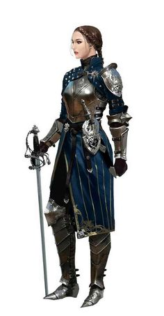 Female Swashbuckler Knight - Pathfinder PFRPG DND D&D fantasy. Actually thats a Grey Warden from Dragon Age, look at the armor Armor Female, Female Knight, Lady Knight, Fantasy Character Design, Character Design Inspiration, Character Art, Character Concept, Fantasy Armor, Medieval Fantasy