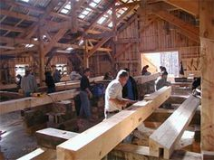COWEE MOUNTAIN TIMBER FRAMERS: school, sales and design of affordable handcrafted timber frame homes and post and beam homes