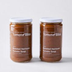 Tomato Bliss Roasted Heirloom Tomato Soup Duo on Food52 Roasted Heirloom Tomatoes, Bliss, Tomato Season, Feta Pasta, Recipe Creator, Tomato Soup, White Beans, Peanut Butter Cookies, Balsamic Vinegar