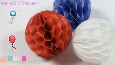 HomeMade DIY Craft  - PAPER Balls HONEYCOMB pompoms DECORATIONS