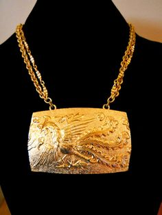 Pendant Necklace NAPIER Bird of Paradise by RenaissanceFair