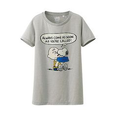 WOMEN Peanuts Crew Neck Short Sleeve T-Shirt