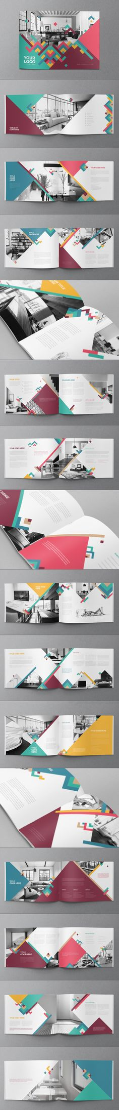 Colorful Pattern Brochure 2 by Abra Design, via Behance #design