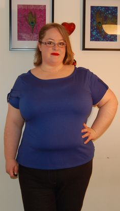 Cashmerette Concord T-Shirt (plus size) made by Andie at Sew Pretty in Pink