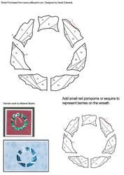 View Abstract Christmas Wreath Iris Folding Pattern Details