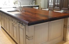 Custom Black Walnut Kitchen Island / Countertops