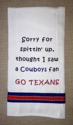 Houston Texans Burp Cloth by ThePersonalDesign on Etsy, $10.00