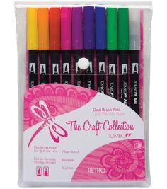 Tombow Dual Brush Pen Set – 10PK, Retro at Joann.com