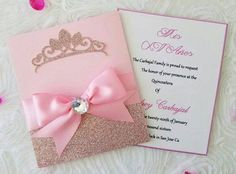 Craft Paper Invitation Simple 27 New Ideas Princess Invitations, Pink Invitations, Invitation Paper, Invitation Design, Birthday Invitations, Wedding Invitations, Invites, Invitation Ideas, Princess Theme
