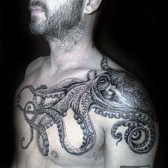 Image result for octopus tattoo #tattoosmen #TattooIdeasMale
