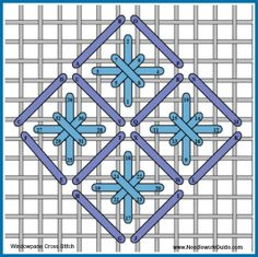 68 Needlepoint Cross Stitch Variations charted for needlepoint canvas.