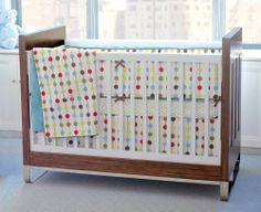 Ensemble de literie de bassinette  (Edredon + contour + Drap + jupe + couverture ) - Mod Dot