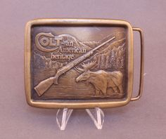 Colt Firearms belt buckle by Indiana Metal Craft, available at our eBay store! $30