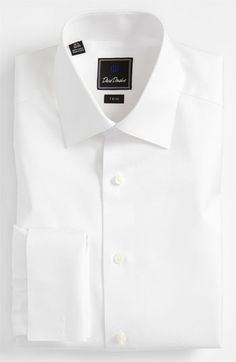 David Donahue Trim Fit Tuxedo Shirt available at Nordstrom