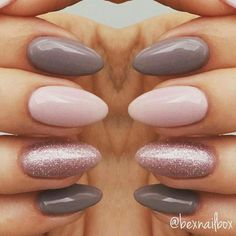 100 Beautiful almond glitters nail ideas and color that you love