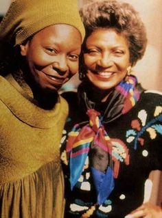 Whoopi Goldberg and Nichelle Nichols.