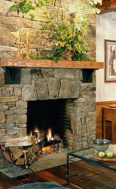 Neat fireplace