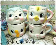 Vintage Kawaii BAby Chick Cermaic Cup