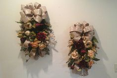 Floral Swag Floral Wreath Over Picture Mirror Mantel Cabinet Shelf Floral Arrangement Tuscan Peony Rose Vine Swag by GiftsByWhatABeautifu u2026 & Floral Swag Floral Wreath Over Picture Mirror Mantel Cabinet ...