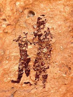 Pintura rupestres de Minateda, parque Arqueológico del Tolmo de Minateda Hellin (Albacete)