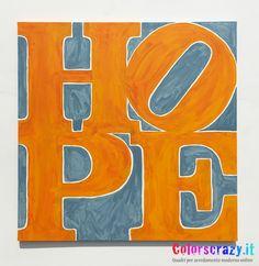 Quadro moderno Hope dipinto su tela - Acquista su www.colorscrazy.it
