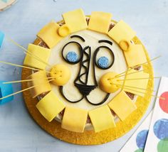 Happy lion birthday cake Happy lion birthday cake      1     2     3     4     5  (0 ratings) By Jane Hornby Magazine subscription – 5 issues for £5 Prep: 20 mins Cook: 25 mins plus cooling and decorating Easy Serves 16-18 or more if cut into rectangles  This colourful animal sponge is sure to be the mane event at any party! Perfect for kids, the simple yogurt vanilla sponge has a buttercream and novelty sugar paste icing decoration