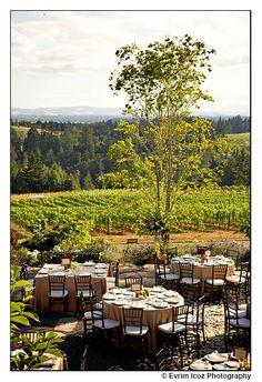 Oregon Vineyard Wedding At The Garden Vineyards Portland Venues Locations Themes