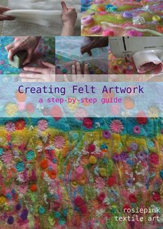 Creating Felt Artwork e-Book by Rosiepink