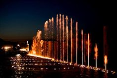 water fountains at night | small fountains at night fountains fire at night live concerts