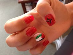 My nails palestinian flag