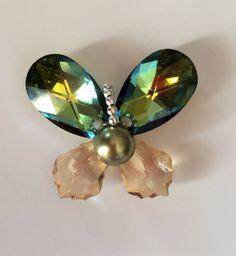 Swarovski crystals butterfly pendant