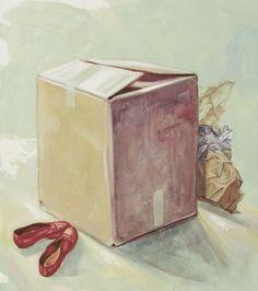 """Inside"" 2009, olio su tela, 90 x 80"