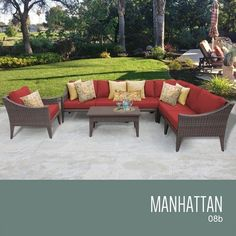 TKC Manhattan 8 Piece Outdoor Wicker Patio Furniture Set -- You can find more details by visiting the image link.