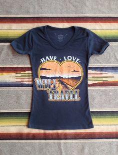 Bandit Brand General Store 70's Tee - Have Love Will Travel  http://banditbrandgeneralstore.com/products/have-love-will-travel-70-s-tee-black