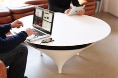 Acoustable...Speakers built into the table! Perfect!