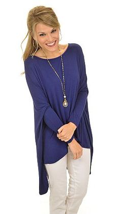 GLAM Box Tee, Navy :: NEW ARRIVALS :: The Blue Door Boutique