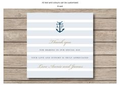 Thank you card for email - Nautical - by Invitation Gallery