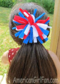 firework hairclip for American Girl dolls.