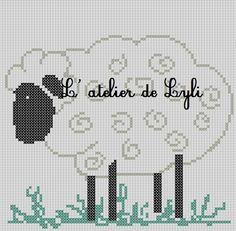 Mouton - Sheep (grille gratuite)